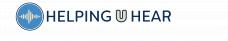 Helping U Hear logo